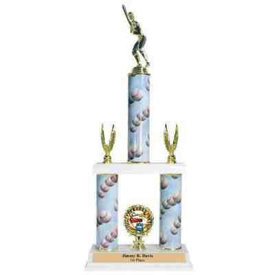 2- tier trophy