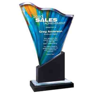 Blue Acrylic Wave Award