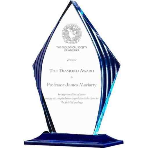 Blue Spire Acrylic Award