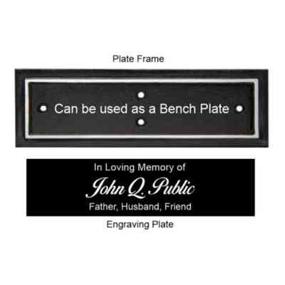 cast aluminum bench plaque