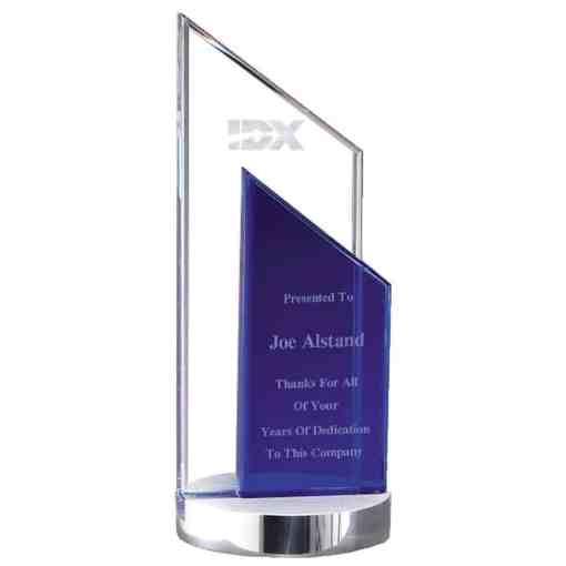 Cool Blue Tower Crystal Award