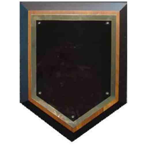 Walnut Home Plate Plaque