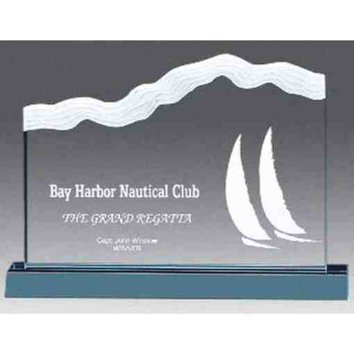 wave ridge acrylic award