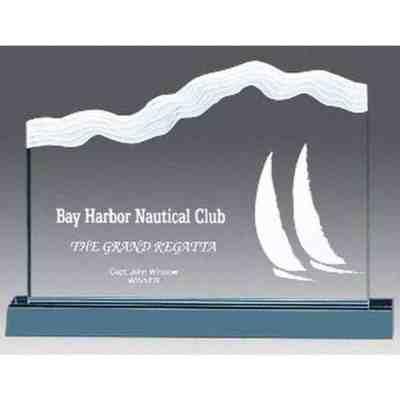 wave ridge acrylic award