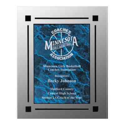 Colorful marble acrylic plaque