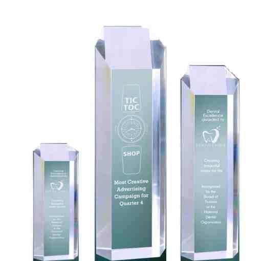 Hexagon Tower Acrylic Award