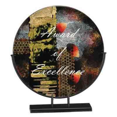 modern art glass plate