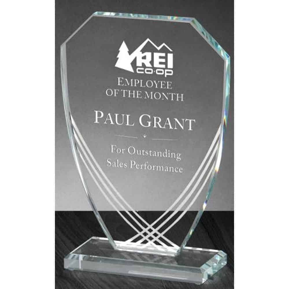 Contour Shield Glass Award