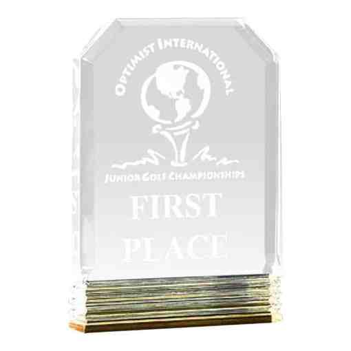 Diamond Carved Acrylic Award