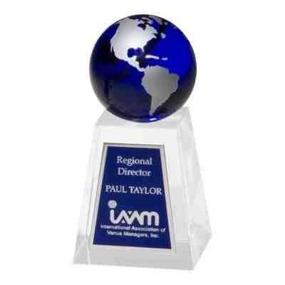 Blue-Globe-Trophy-Plate