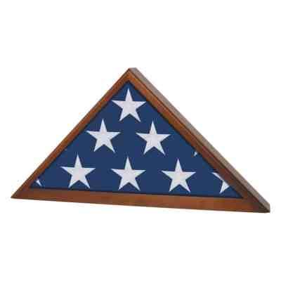Walnut Finished Flag Case
