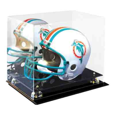 Helmet Display Case with Mirror