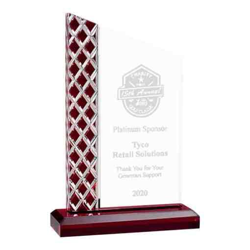 Red Lattice Acrylic Award A7162