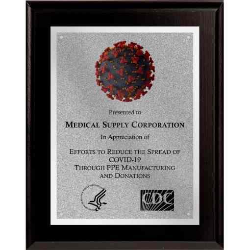 coronavirus hero plaque