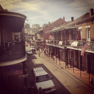 Bourbon Street looks so tame at noon. Leave now while you still can.