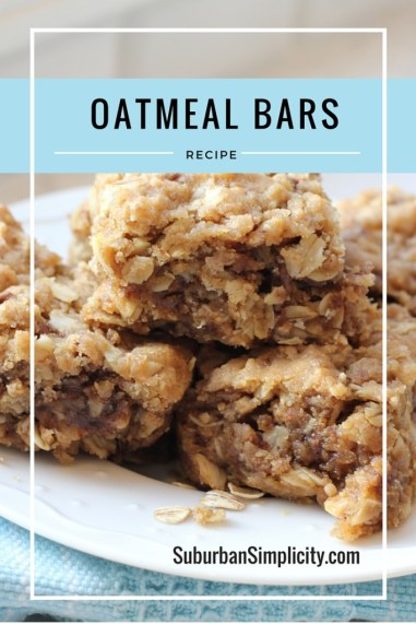 Easy-Oatmeal-Bar-Recipe. Heaven every time!