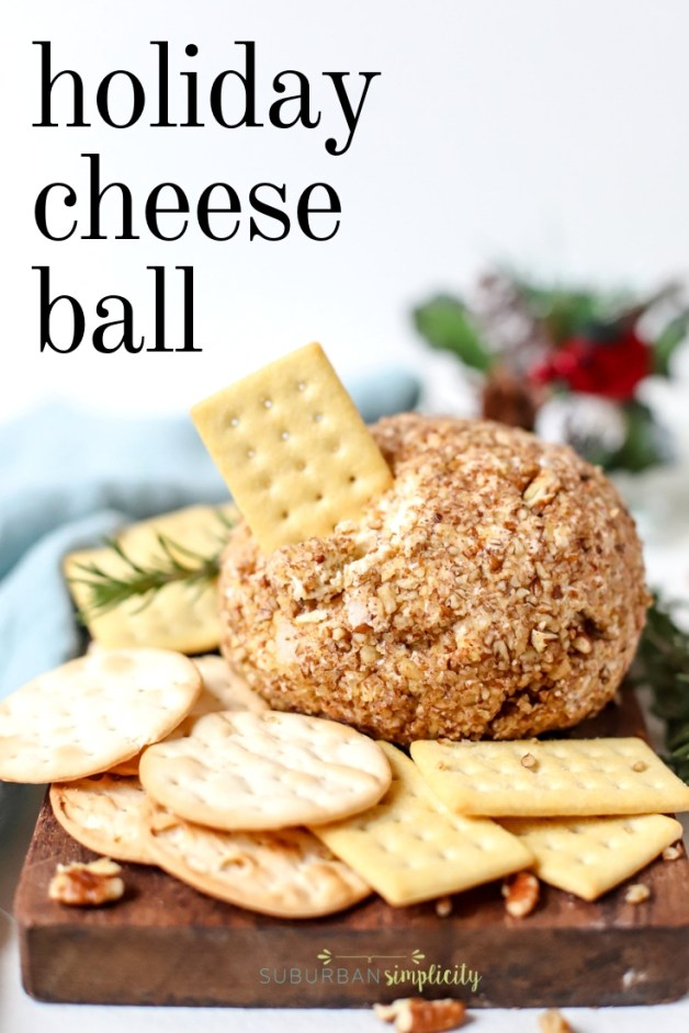 This Blue Cheese and Pecan Cheese Ball was made to party! Everyone loves this easy appetizer and its trio of cheeses!