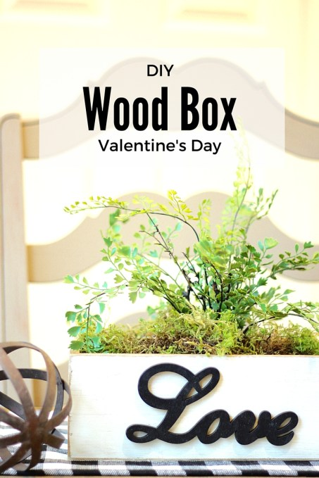 DIY Wood Box Valentine's Day