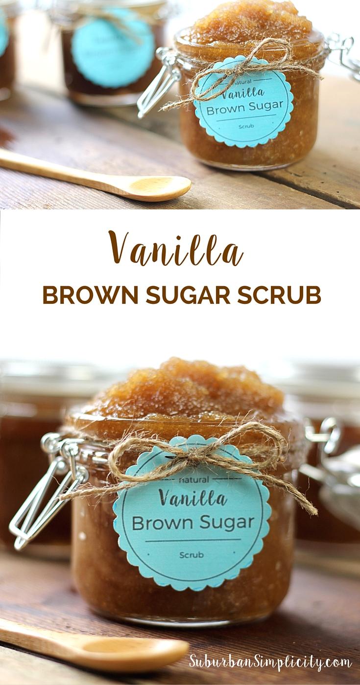 This Vanilla Brown Sugar Scrub recipe smells good enough to eat plus it's super easy to make! A simply perfect homemade DIY! #bodyscrub