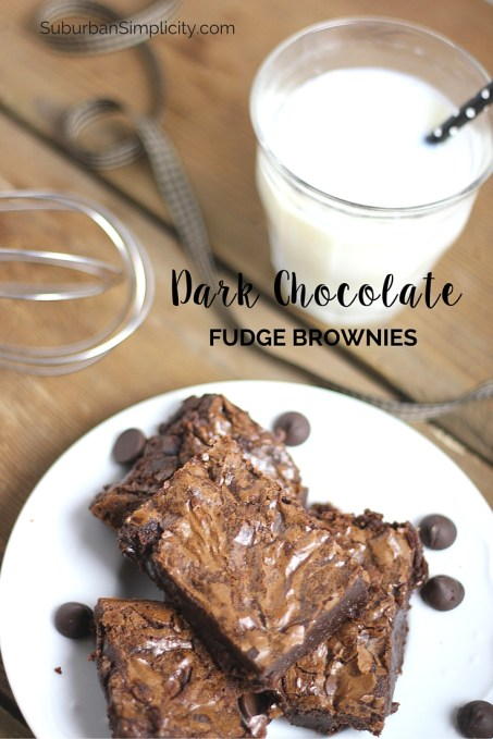 Craving a little Chocolate? These Dark Chocolate Fudge Brownies are decadently delicious - rich and moist. Make this brownie recipe from scratch and you'll never buy a boxed mix again!