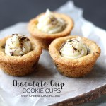 Chocolate Chip Cookie Cups with Cheesecake Filling