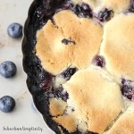 Blueberry Cobbler in Pie tin