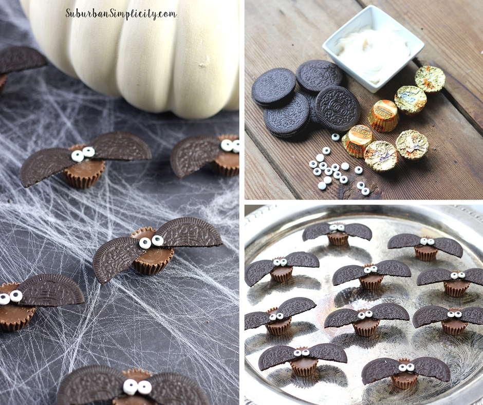 Ingredients for making halloween Bat Treats.