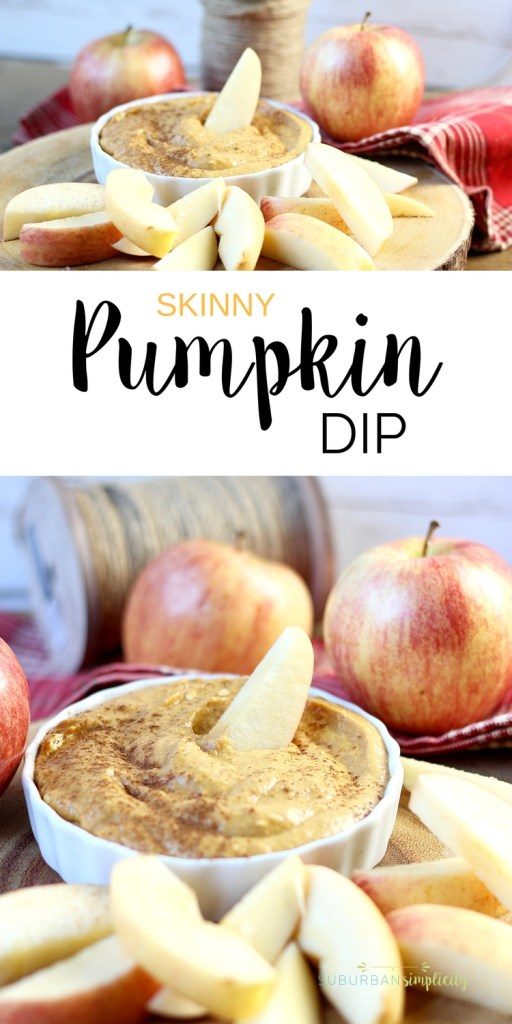 This Skinny Pumpkin Dip recipe is no bake and super simple to make in under 5 minutes. It's perfect for a party or snack. Serve with apples or cookies of choice.