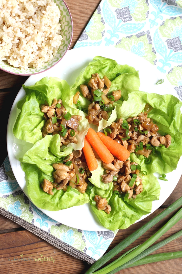 Chicken Lettuce Wraps are a healthy comfort food recipe the whole family will love! A dinner idea that's on the table in less than 30 minutes!