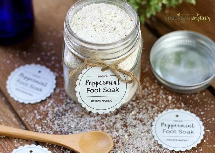 Peppermint foot soak is a wonderful DIY to pamper and rejuvenate your feet. It's super easy and inexpensive to make and is also a perfect gift idea.