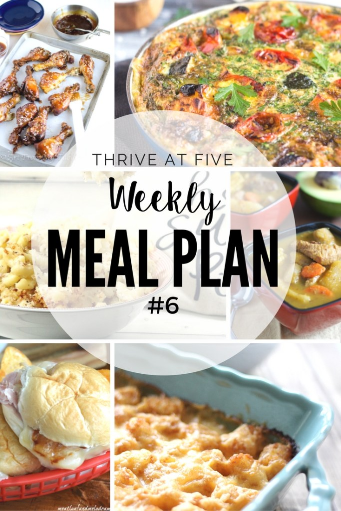 Weekly Meal Plan #6