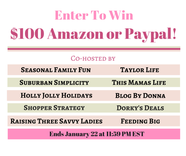 Happy New Year! It's time for $100 Amazon Gift Card or PayPal Giveaway! Yay! Enter now for your chance to win an Amazon Gift Card or PayPal cash!