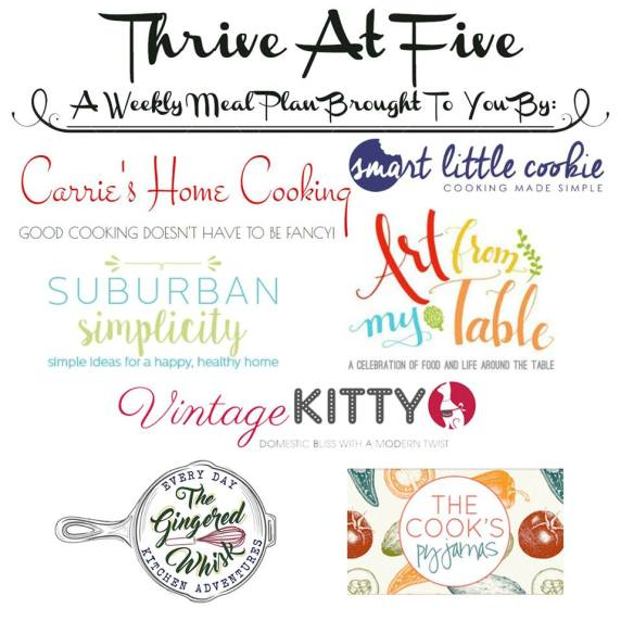 Thrive at Five Weekly Meal Plan #16 is your shortcut to fresh and tasty recipe ideas your family will love! Let's get cooking!