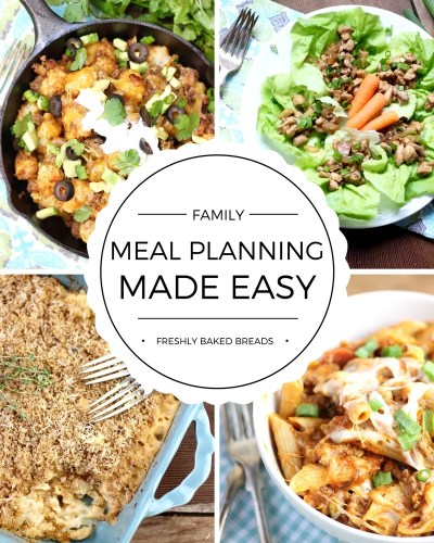 Eliminate the stress of Family Meal Planning with this helpful guide. Find out how you can meal plan for your week in 10 minutes!