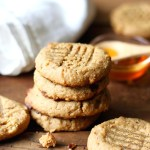 Paleo Peanut Butter Cookies are healthy cookies with no flour and no sugar that tastes out of this world! A clean, low carb recipe!