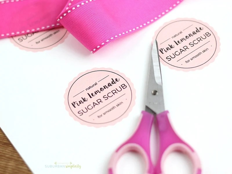 Pink Lemonade Sugar Scrub with FREE Printable Tags