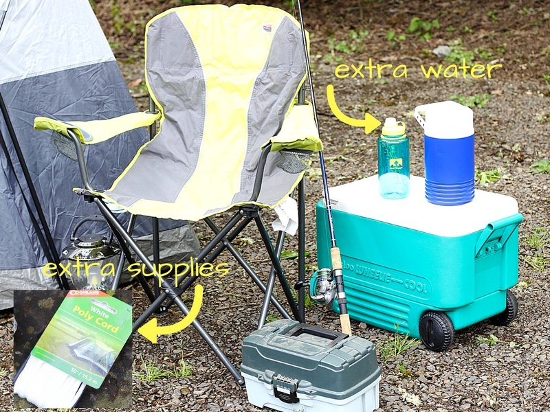 f you're car camping, you can bring your favorite fresh foods packed on ice in a big cooler.