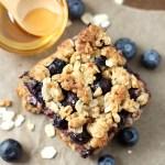 Easy Blueberry Oatmeal Bars
