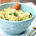 Curried Couscous with Broccoli and Feta is an easy dish that's packed with flavor and texture. You can't go wrong with this dinner recipe!