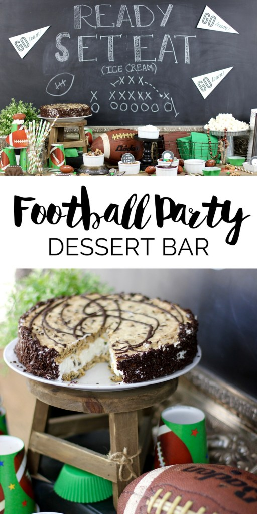 Looking for easy Football Party food ideas? Then you have to try a Football Party Dessert Bar! You'll score a touchdown with everyone when you serve these treats! #gamedayfood