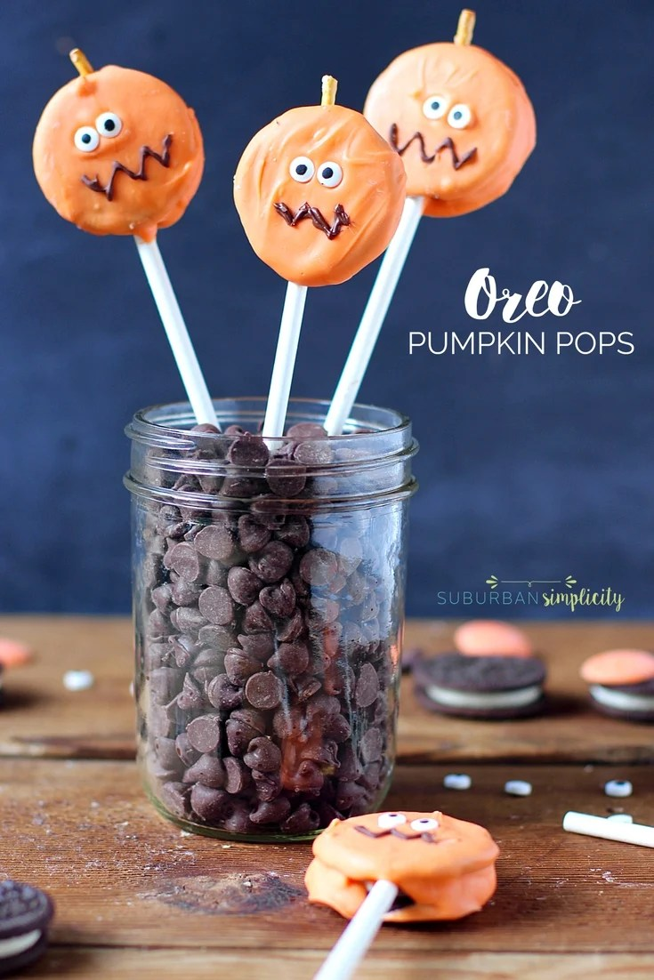 Easy Oreo Pumpkin Pops Easy Halloween Treat Idea