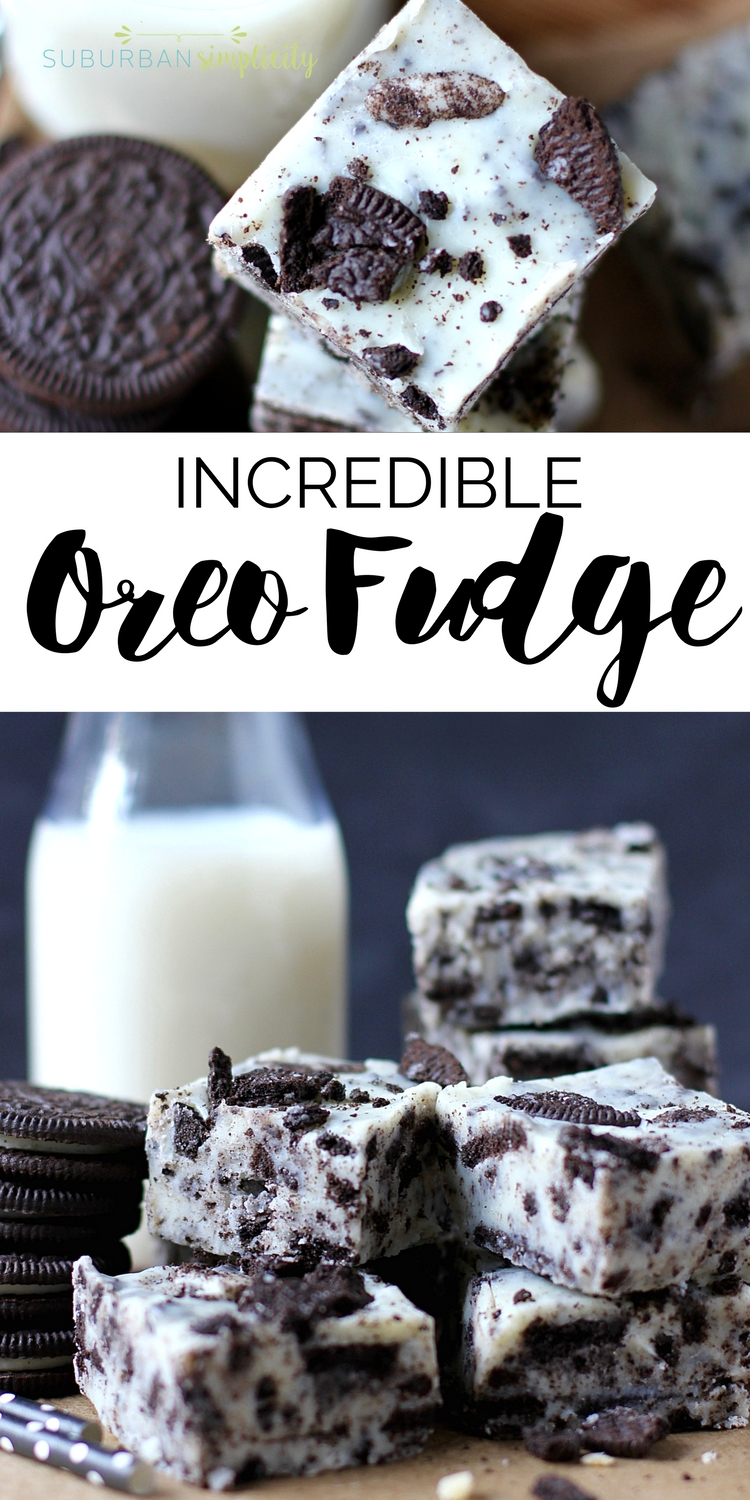 This amazing and easy Oreo Fudge is so creamy and dreamy, you'll absolutely love it! It's a simple Oreo cookie dessert idea no one can resist! #oreorecipes #fudge