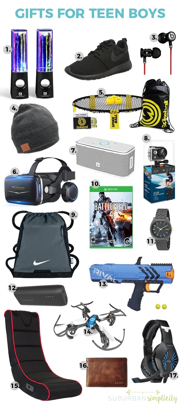 17 Awesome Gift Ideas for Teen Boys | Gifts for Teen Guys
