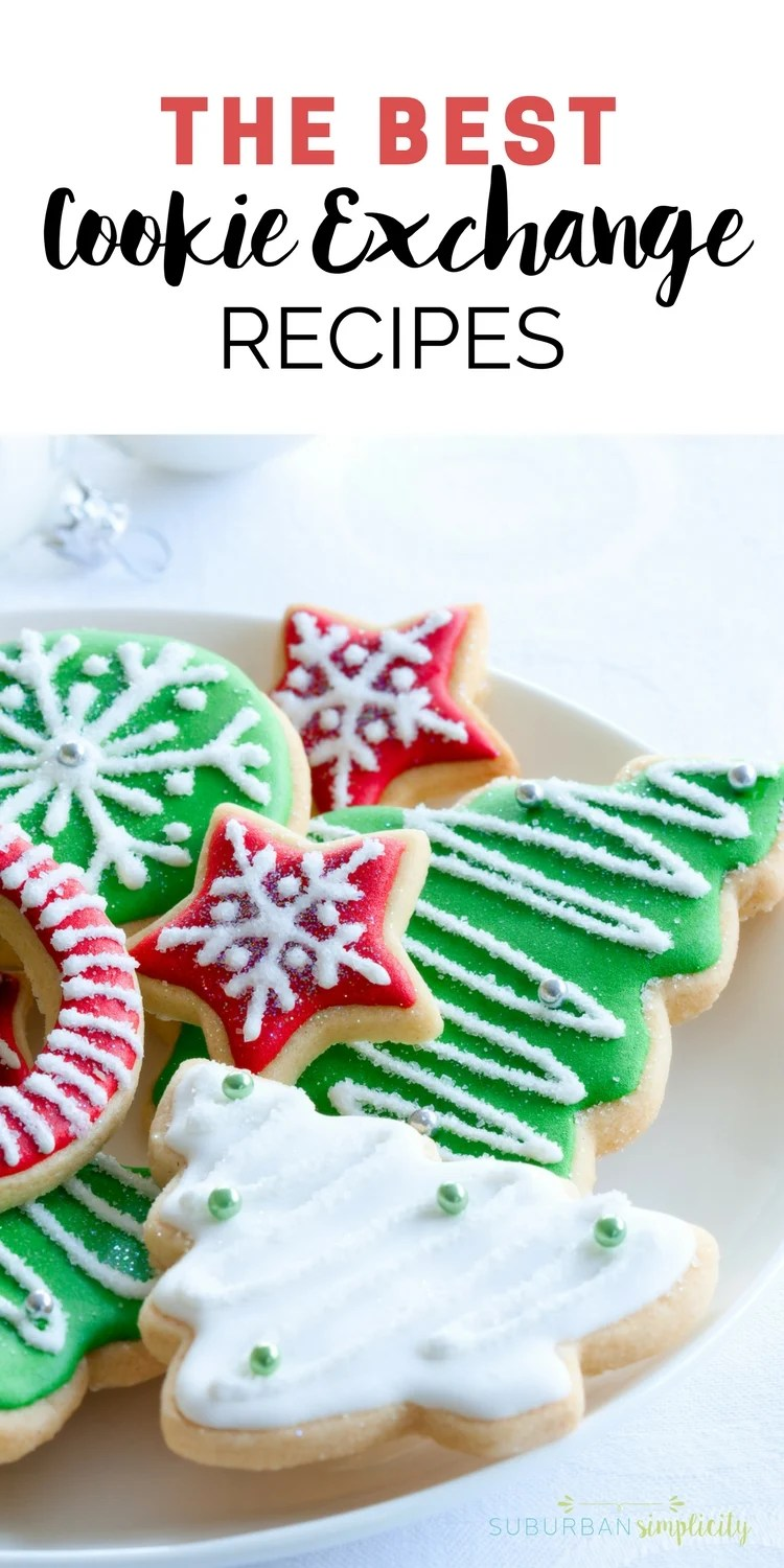 Wow your friends with these delicious cookie exchange recipes! From chocolate to oatmeal and everything in between, these Christmas cookie recipes are the best! #cookierecipes #cookieswap