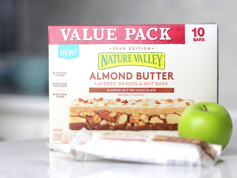A box of Nature Valley Layered Granola Bars.