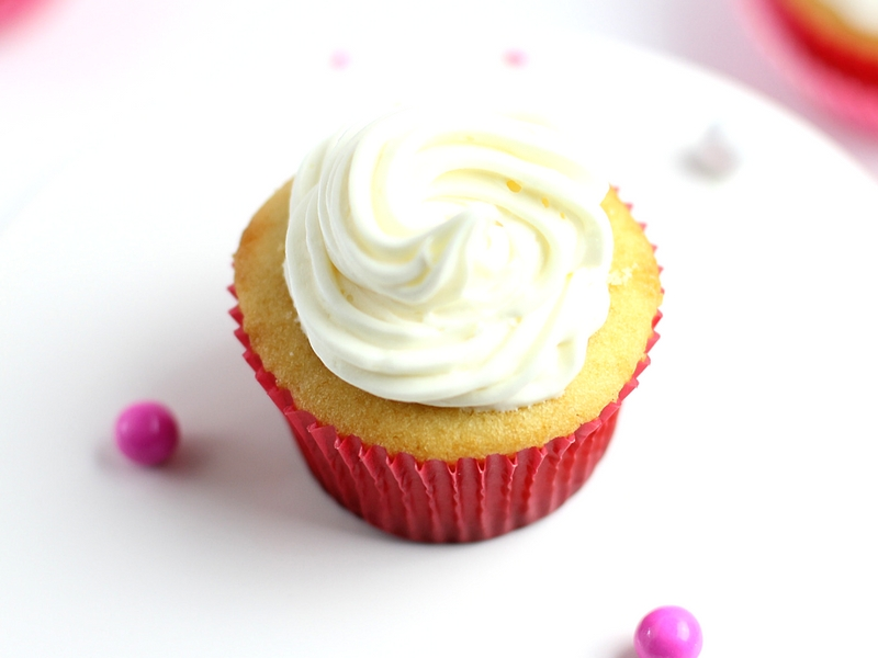 Vanilla Cupcakes with Vanilla Frosting