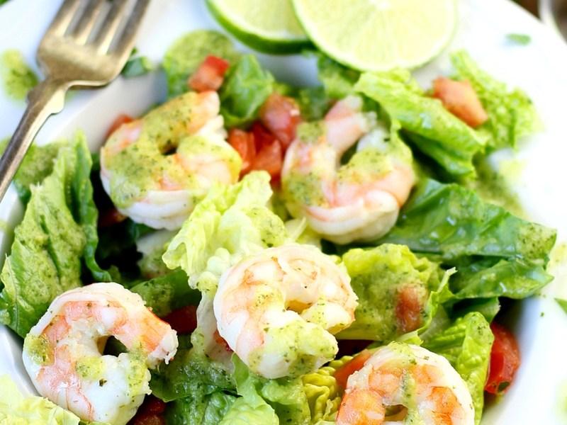 Avocado Cilantro Lime Shrimp Salad