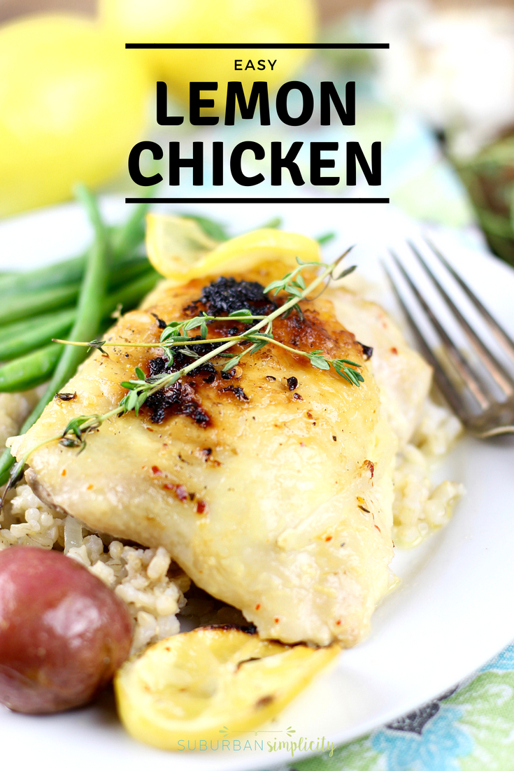 This Baked Lemon Chicken Recipe is easy, light and so flavorful you want to make it again and again. A simple weeknight meal your family will rave about, yet fancy enough to entertain guests.