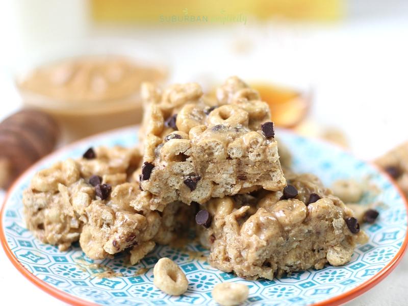 Plate of Honey Nut Cheerios Protein Bites