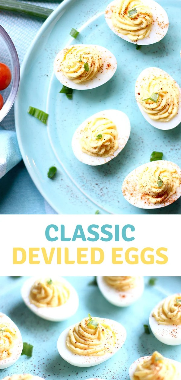Get ready to make theBest Deviled Eggs! This classic deviled egg recipe is so darn delicious, they won't last long at your next picnic or potluck! #summer #eggs #easyrecipe #potluck #deviledeggs